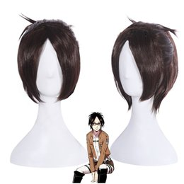 Kyojin cosplay online shopping - Women Shingeki no Kyojin Attack on Titan Hanji zoe Ponytail Brown Cosplay Wig