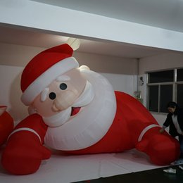Santa Inflatable Australia - Outdoor Party Events Giant Inflatable Christmas lying Santa Claus Cartoon For Party Festival Toy-in Movies & TV