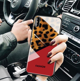 $enCountryForm.capitalKeyWord Australia - Smooth TPU cover Leopard Customize Toughened Glass Phone Case Fashion Design Protective Case for iphone 6 7 8 X Xr XS max