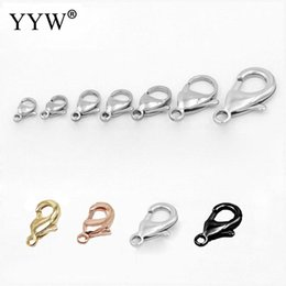 $enCountryForm.capitalKeyWord Australia - wholesale 100pcs Lot stainless steel lobster clasps jewelry findings gold black sliver color claw clasp for bracelet necklace key ring