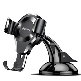 Iphone Car Suction Australia - Gravity Car Phone Holder For iPhone X Samsung S10 Suction Cup Car Mount Holder For Phone in Car Mobile Phone Holder Stand