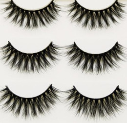 fd84c3f6d7d 2019 Black 3d False Eyelashes Cross Messy Soft Curl Thick Fake Makeup Tools  Natural Long Eye Lashes