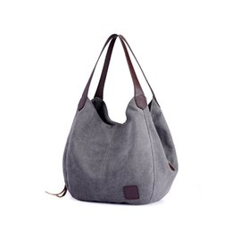 Wholesale New Classic Bucket Causal Tote Ladies Simple Shoulder Bag Women Canvas Handbags For Female Shopping Bags Bolsas An1240
