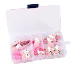 $enCountryForm.capitalKeyWord UK - 10pcs set Girls Hair Accessories Kawaii Acrylic Hello Kitty Barrettes Baby Hair Clips Hairpins