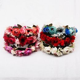 Apparel Accessories Fine Led Camellia Flower Crown Headbands Light Party Rave Floral Band Wreath Wedding Flower Hair Accessories Girl Headpiece Decor