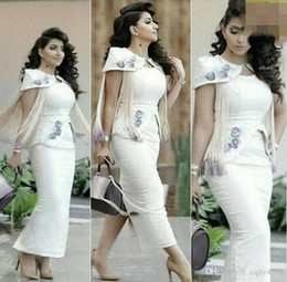 Celebrity myriam fares evening dresses online shopping - 2019 New Myriam Fares Celebrity Dresses Embroidery with Tassels Decorated with Slit Evening Gowns with Detachable Shoulder Cape Real Images