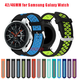 Wholesale Smart Watches Australia - 20 22mm Silicone strap for Samsung Galaxy Watch 42mm smart watch band for Samsung Galaxy Watch 46mm Bracelet Accessories