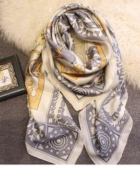 quality beach wraps Australia - Designer Euro Styliash Large Silk Scarf 140*140cm High Quality Luxury Designer Scarves And Shawls Wraps Hijabs Pashmina Beach Coverup Winte