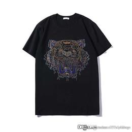 $enCountryForm.capitalKeyWord Australia - Mens designer t shirts fashion brand t shirt Tiger head Beads cotton tshirts summer wear mens clothings Size S-XXL