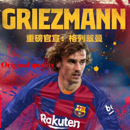Discount 2xl soccer jerseys - New 2019 GRIEZMANN Barcaed Jersey soccer 2020 La Liga adult t-shirt home red away yellow 19 20 size S-2XL football shirt