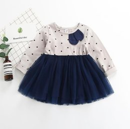 68400262898 New Spring Baby Girls Cotton Dress Kids Dots Long Sleeve Lace Tulle Tutu  Princess Dress Children Girl Casual Dresses 14543