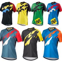 Wholesale Jersey Uniform NZ - Short Sleeve Pro Cycling Jersey Offroad Bicycle Maillot MTB Shirt Downhill DH MX Uniform Mountain Bike Clothing Motocross Wear