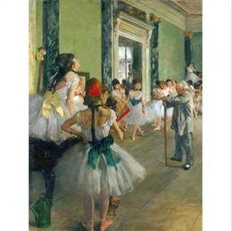 $enCountryForm.capitalKeyWord Australia - Edgar Degas Ballet Class Old Master Handpainted Impressionist Portrait Art oil painting Wall Art Home Decor On High Quality Canvas p216