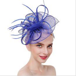 Feather Balls Australia - Headdress Ball Show Bride Feather Hair Trim Hat Hair Trim