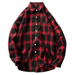 $enCountryForm.capitalKeyWord NZ - Checkered Men Shirt 2019 Spring Autumn New Long Sleeve Flannel Plaid Shirt Men Office Style Business Casual Shirts M-5xl