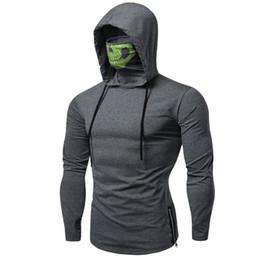 $enCountryForm.capitalKeyWord Australia - Mens Gym Hoodie Sweatshirt Drawstring Zipper Skull Mask Hoodie Long Sleeve Pullover Sweatshirt Casual Jumper Streetwear