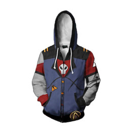 $enCountryForm.capitalKeyWord UK - Game Borderland Cosplay Hoodies Assassin Zero Costume 3D Print Sweatshirt Zipper Hooded Coat Men Adults Cartoon Jacket