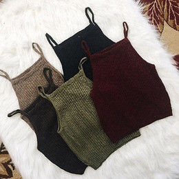 sexy army shirts NZ - Tank Top Woman Tanks Tops Fashion Women Knitwear Sleeveless Shirt Blouse Casual Short Sweet 5 Colors Tank Top For Female Solid Tee