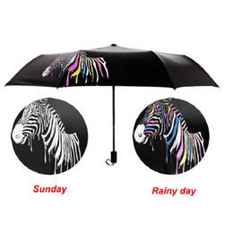 $enCountryForm.capitalKeyWord NZ - Creative Zebra Color Changing Umbrella Sunshade Folding Umbrella Anti-UV Folding Outdoor Sunshade Folding Rain Sun Umbrellas