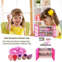 $enCountryForm.capitalKeyWord Australia - Dollhouse Kitchen Simulation Furniture Set Mini Kids Girls Kitchen Pretend Play Cooking Set Simulation Cabinet Toys House Decor