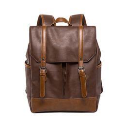 $enCountryForm.capitalKeyWord UK - Fashion Pu Leather Backpacks Vintage Casual Notebook Backpack Man And Women Student School Bags Shoulder Bags Backpack