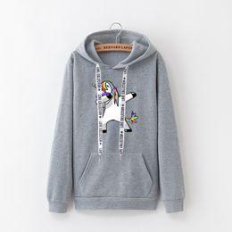 $enCountryForm.capitalKeyWord Canada - 2019 winter new Harajuku women hoodies BTS print Unicorn casual loose sweatshirt women's coat jumper hooded warm plus velvet top #399358