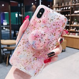$enCountryForm.capitalKeyWord NZ - Universal Creative Soft TPU Cherry Blossoms Pattern Phone Case Cover with Expandable Grip Cell Phone Holder Stand for iPhone XS XR DHL