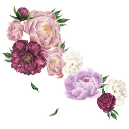 $enCountryForm.capitalKeyWord Australia - 40x60CM Peony Flowers Queen Antique Style Removable Wall Stickers Decals Home Decoration For Living Room Bedroom