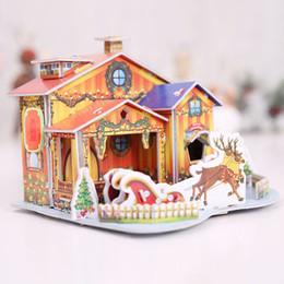 Miniature toys online shopping - New D DIY Model Miniature Mini Christmas Paper House Puzzles d Building Set Handcraft Cute Kids Toy