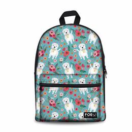 $enCountryForm.capitalKeyWord Australia - Designer-Customized Girls School Bags Senior High School Women Backpack Westie Dog Pattern Laptop Schoolbag for Kids Bags Bookbag Cute