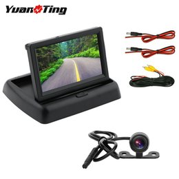 Wired camera kit online shopping - YuanTing Car Backup Camera and quot LCD Rear View Monitor Kit V V Universal Wired Night Vision Parking Reverse System