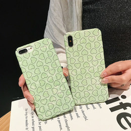 $enCountryForm.capitalKeyWord Australia - For Iphone Xs Max X Xr Cell Phone Cases Matcha Green Shell Love For Apple 7 8 6 Plus PC Hard Phone Case