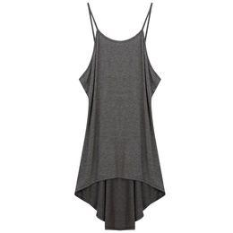 $enCountryForm.capitalKeyWord Australia - Mini Fashion Beach Women Dress Summer Cotton Blend Spaghetti Strap Sleeveless Irregular Solid Backless Loose Sexy Casual