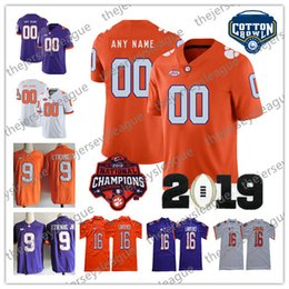 7854baedb Clemson Tigers 2019 Champions Custom Any Name Number Stitched Orange Purple  White NCAA College Football Jersey #16 Trevor Lawrence 5 Higgins