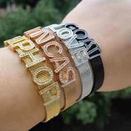 $enCountryForm.capitalKeyWord Australia - Luxury Designer Gold Bling Diamond Custom Name Bangle Bracelet Hip Hop Personalized DIY Letters Lovers Wristband Jewelry Gifts for Couples