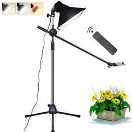 Photo reflectors online shopping - Photography Phone LED Lamp Bracket Stand Boom Arm Reflector Softbox Continuous Lighting Kits For Photo Video Shooting Fill Light