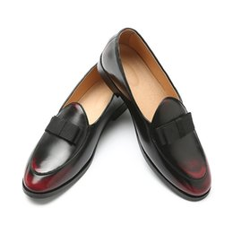 $enCountryForm.capitalKeyWord Australia - Size 38-48 Bow Tie Leather Gentleman Loafer Men Wedding Black Dress Shoes Men's Banquet Loafers men Casual Comfortable Night Club Party Shoe