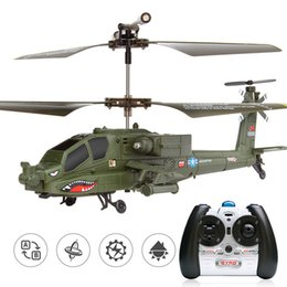 Radio Controlled Toy Helicopter Australia - Simulation 3.5-channel Radio Toys Helicopter Apachi RC Remote Control Gift