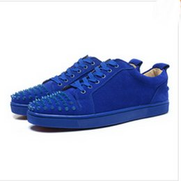 $enCountryForm.capitalKeyWord UK - wholesale Best Designer Sneakers Famous Brand Red Bottom designer Mens Luxury spike shoes Genuine Leather,White Spiked Toe Flats 3A 09