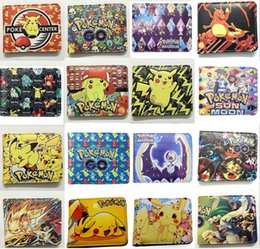 turtle purses Australia - 16 Designs Wallet Pu Leather Short Royale Purse Pikachu Fire-breathing dragon water arrow turtle Kids Cartoon Anime PU wallet
