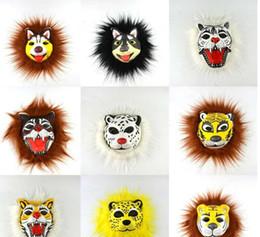 $enCountryForm.capitalKeyWord Australia - Face mask Halloween masquerade new style party artificial hairy animal tiger raw edge dance performance costume