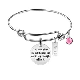 $enCountryForm.capitalKeyWord Australia - You Are Braver Positive Quotes Bracelets for Friends Love Gifts Students Sisters Passion Silver Bangles Stainless Steel Adjustable Bracelets