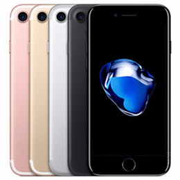 China Refurbished Original Apple iPhone 7 4.7 inch Fingerprint iOS A10 Quad Core 2GB RAM 32 128 256GB ROM 12MP Unlocked 4G LTE Phone Free DHL 10pc suppliers