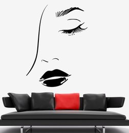 $enCountryForm.capitalKeyWord Australia - Sexy Girl Vinyl Wall Stickers With Beautiful Face Decor Personality Wall Sticker DIY Self-adhesive Wallpaper High Quality