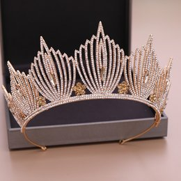$enCountryForm.capitalKeyWord Australia - New Luxurious Rhinestone Tiara Wedding Crown Bridal Hair Jewelry Crystal Tiara Crown Hair Accessories Bride Head Piece Queen Diadem