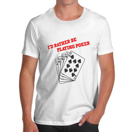 Discount t shirt poker - Twisted Envy Men's I'D Rather Play Poker T-Shirt hoodie hip hop t-shirt