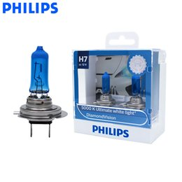 H7 55w Halogen xenon bulbs online shopping - Philips H7 V W Diamond Vision K Xenon White Car Halogen Original Headlight Auto Bulb Genuine Bright Lamp DVS2 Pair