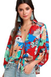 $enCountryForm.capitalKeyWord Australia - 2019 Fashion Long Sleeve Women Blouses Floral Printed V-Neck Casual Shirt Sexy Ladies Bodies Spring Chiffon Tee Blouse Top DYH0524