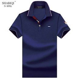 $enCountryForm.capitalKeyWord Australia - Shabiqi Clothes Brand Men Short Sleeve Embroidery Polo Shirt Plus Size 6xl 7xl 8xl 9xl 10xl Q190516