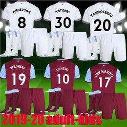 Discount west ham kits - 2019 2020 adult men kids West Ham soccer jersey kit United home away 19 20 NOBLE ANDERSON ARNAUTOVIC ANTONIO football ki